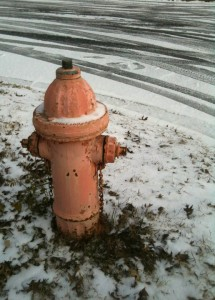 snow on fire hydrant